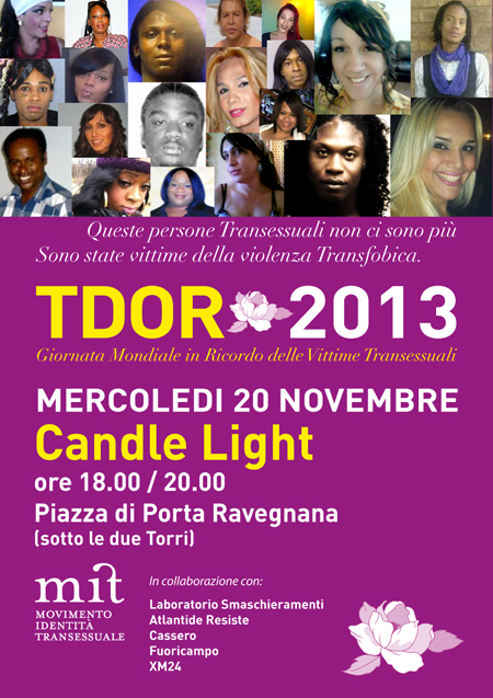 TDOR – Transgender Day Of Remembrance 2013